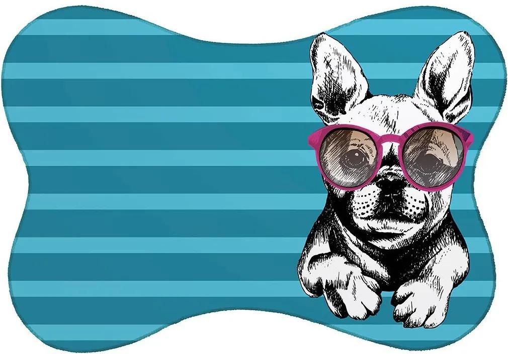Tapete PET Mdecore Bulldog Turquesa46x33cm