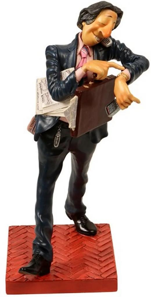 Escultura Decorativa de Resina O Homem de Negócios