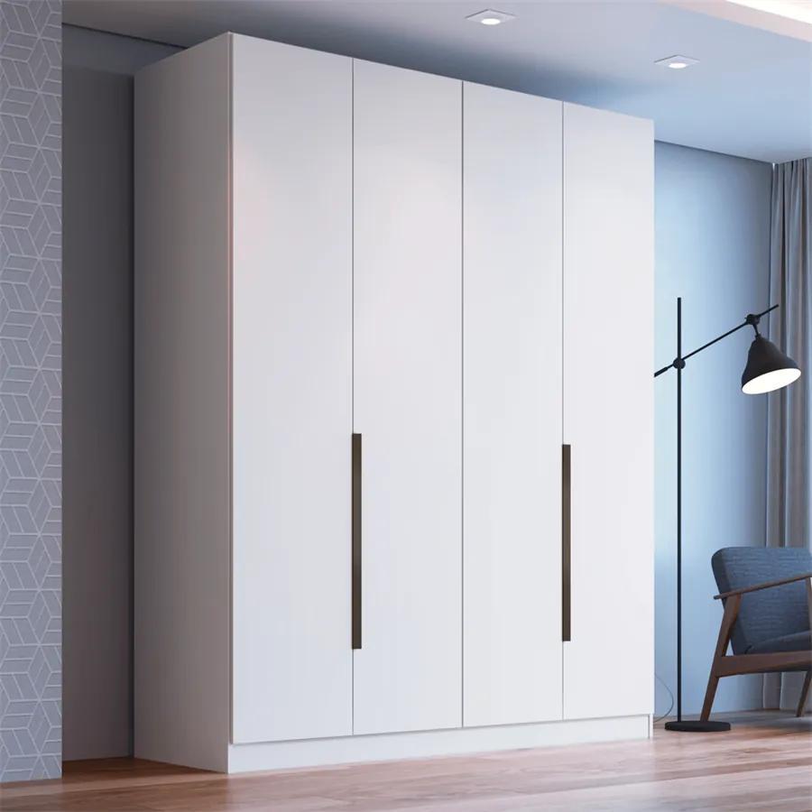 Guarda-roupa Velasques (L: 160cm) C/ 4 Portas 100% MDF Branco
