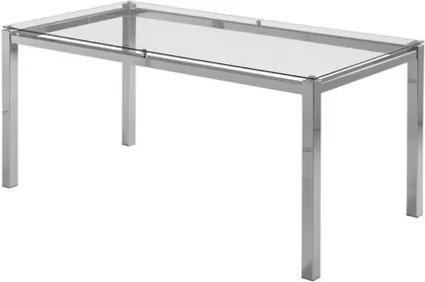 Mesa de Jantar Flex com Tampo de Vidro Base Cromada 1,20 MT (LARG) - 55647 Sun House