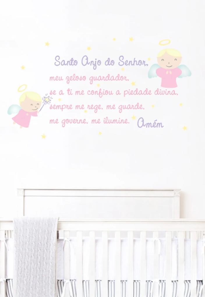 Adesivo Decorativo Stixx Santo Anjo Menina Rosa