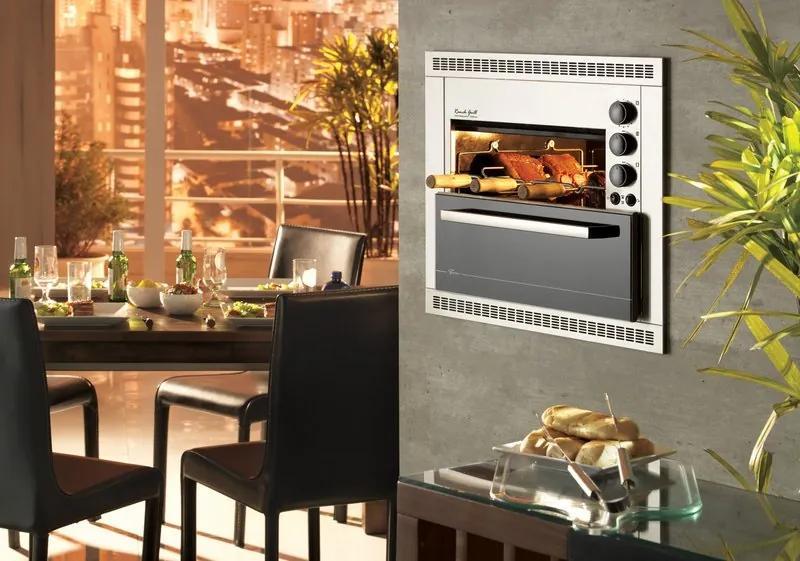 Churrasqueira Elétrica Gourmet 3 Espetos  220V Fischer RANCH GRILL Inox Escovada