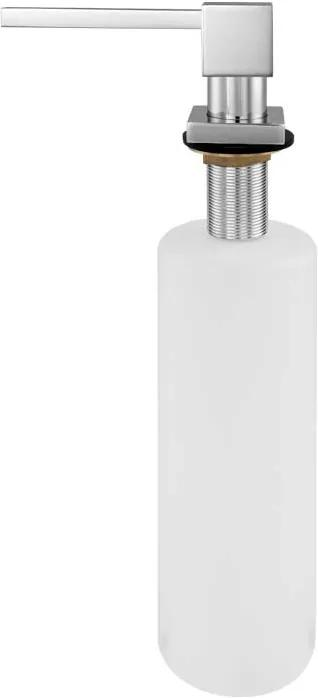 Dosador para Detergente Embutido Metal 500 ml (Square Cromado)