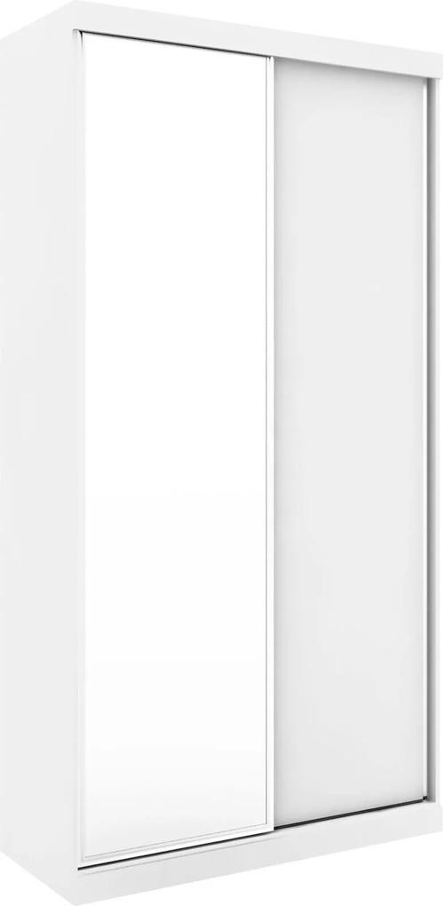Guarda-Roupa Virtual 1,20 com 2 Portas Correr Com Espelho Branco Robel