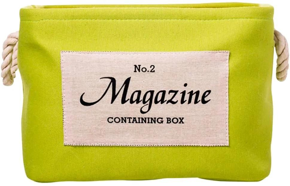 Cesto Organizador Magazine Verde Médio em Tecido -  33x25 cm