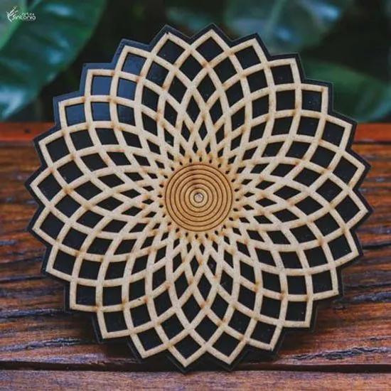 Mandala Decorativa em MDF | Preto