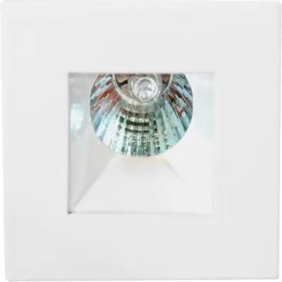 Plafon Embutir Aluminio Branco Mini Dicroica Gu10