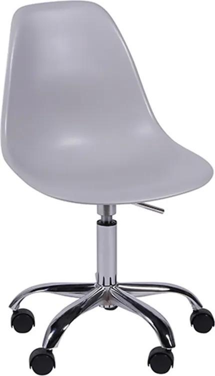 Cadeira Giratória em Polipropileno Cinza