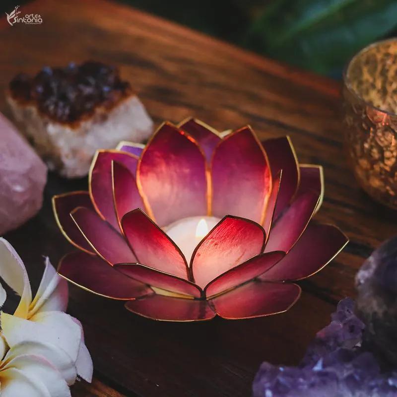 Porta-vela de Flor em Madrepérola