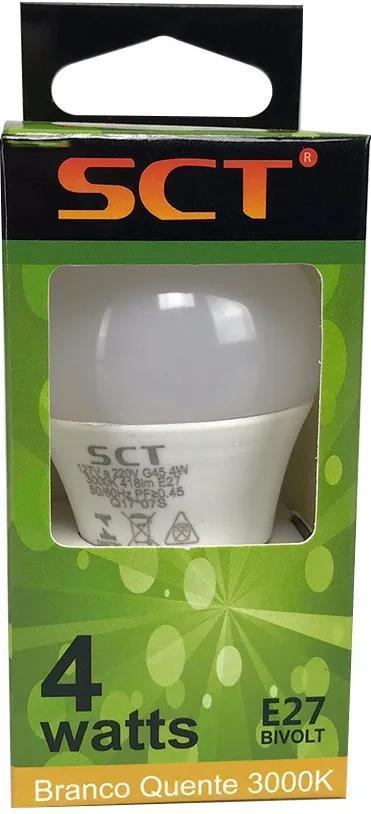 Lâmpada de Led Bolinha G45 4W 3000K - SCT - Bivolt