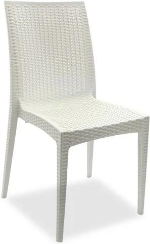 Cadeira Decorativa, Branco, Rattan
