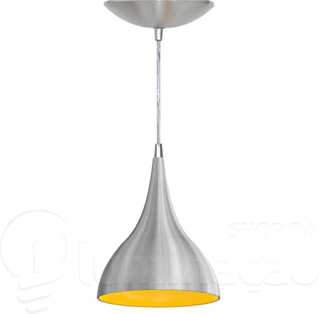 Pendente Gota (escovado / Amarelo)