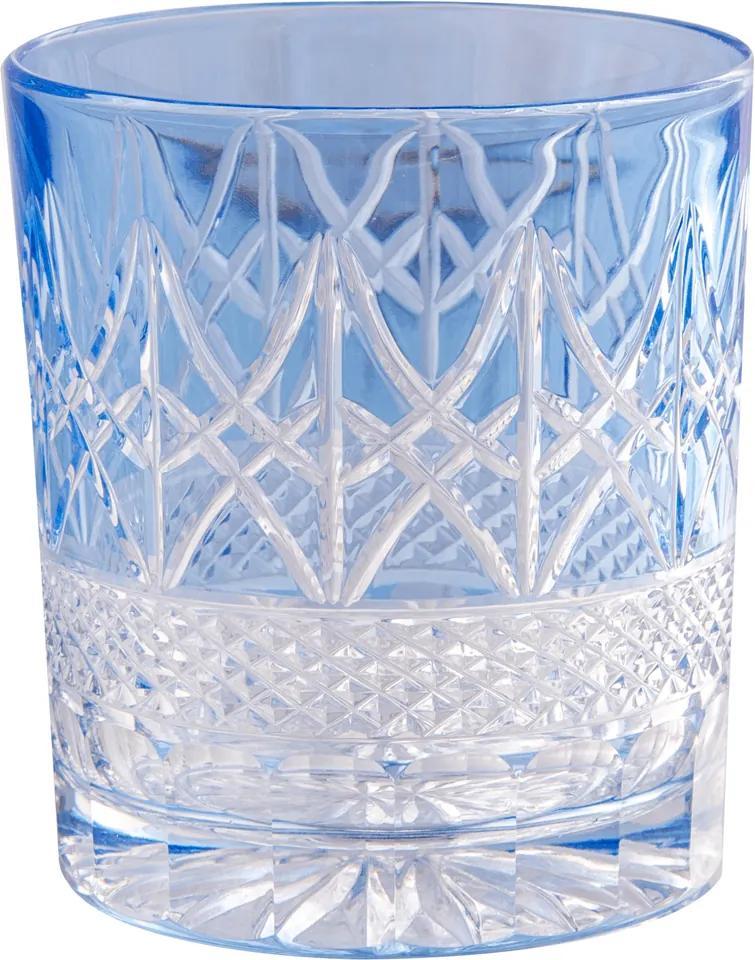Copo baixo de Cristal Lodz de 320 ml - Azul Primavera