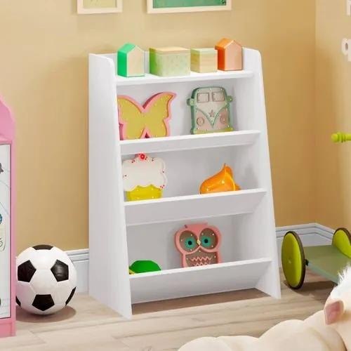 Estante Infantil Porta Brinquedos Teco 4 Prateleiras - Branco