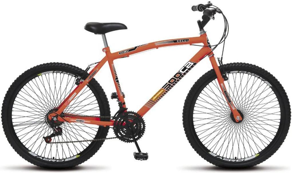 Bicicleta Colli Bikes Aro 26 CB 500 Chev 72 Raias Laranja Neon