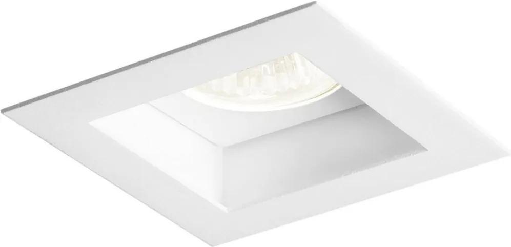 Plafon Embutir Aluminio Branco 11cm Flat