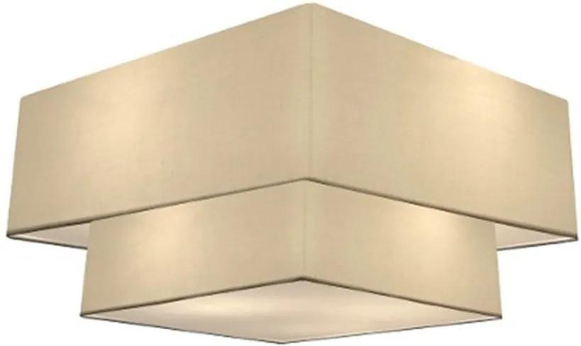 Plafon Duplo Quadrado Md-3018 Cúpula em Tecido 25/70x50cm Algodão Crú - Bivolt