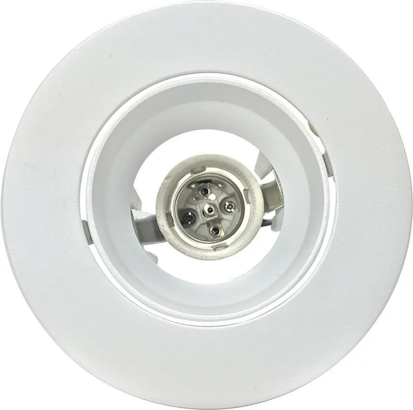 Embutido Orientável Redondo Face Plana PAR20 Branco Microtexturizado - Interlight - IL0091-BMTX
