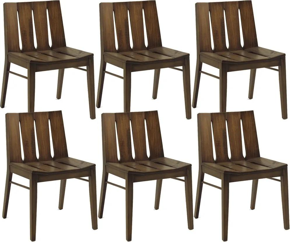 Kit 06 Cadeiras Para Sala de Jantar Cozinha Franci Cacau - Gran Belo