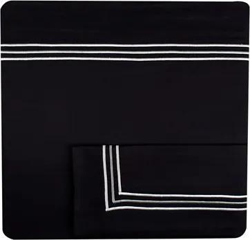 Jogo De Lençol London Black 450 Fios Super King