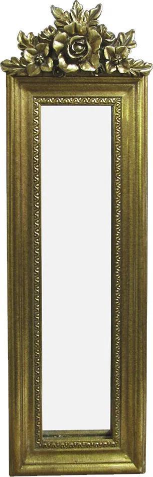 Espelho Clássico Retangular Dourado - 49x3x19cm