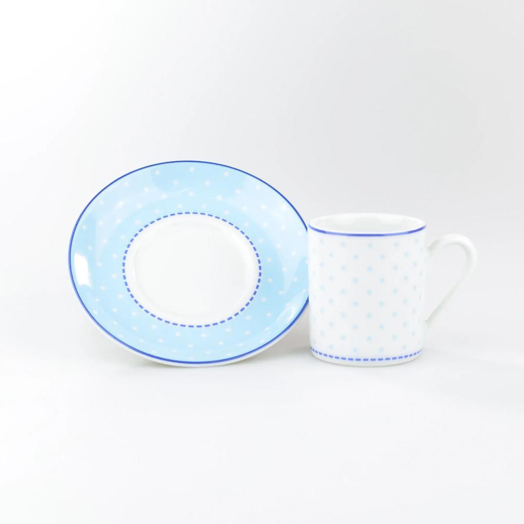 Conjunto de Xícaras para Café c/ Pires Porcelana Schmidt 06 Peças - Dec. Maitê