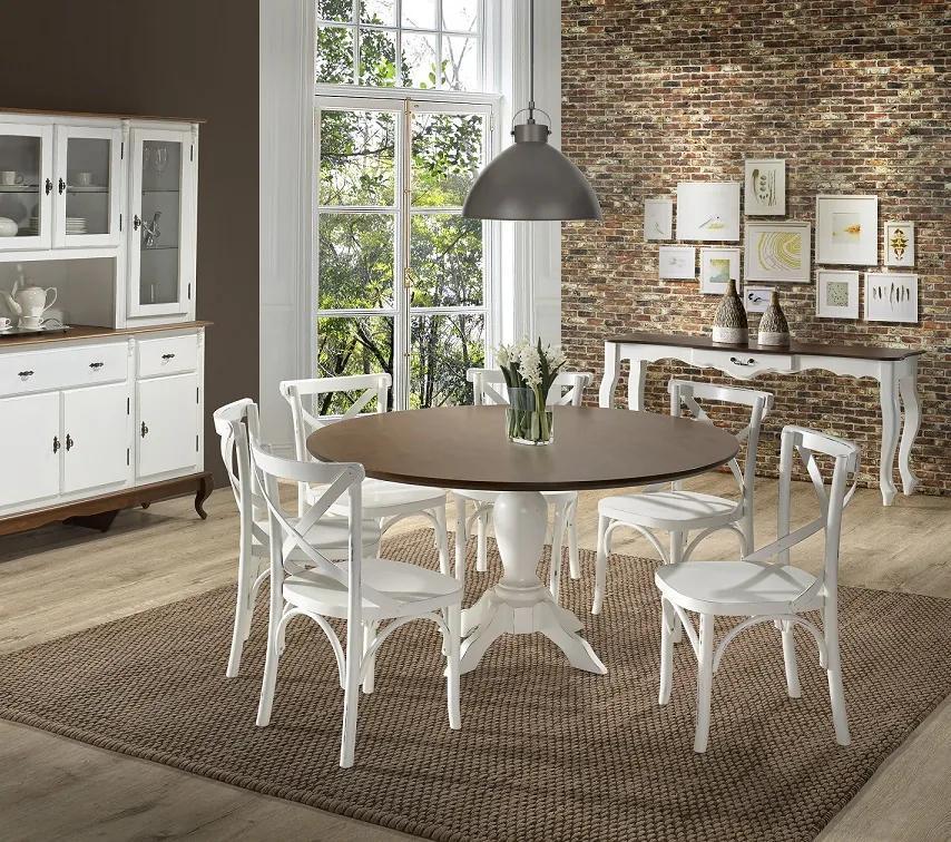 Conjunto de Jantar Mariah com 6 Cadeiras Móveis Linz