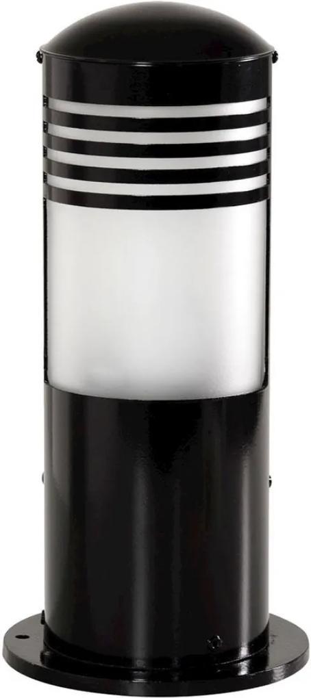 Balizador Aluminio E Vidro Preto Ip65 50x14
