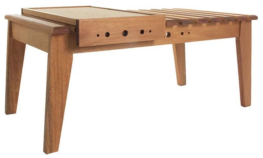 Mesa de Centro Madeira com Bandeja - Wood Prime MR 34619