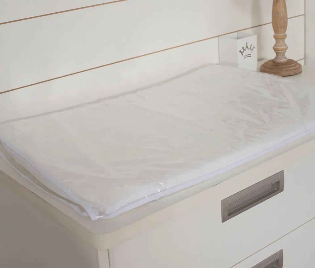 Trocador Lese 70cm x 50cm Plastificado 100% Algodão - Branco