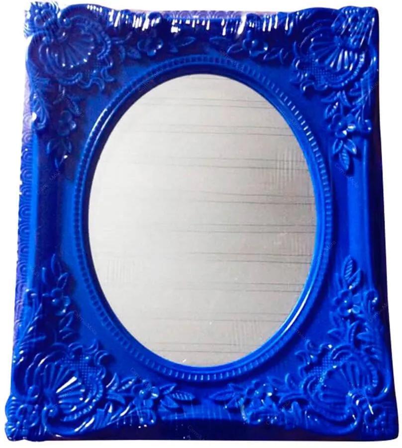 Espelho Retangular com Vidro Oval Indigo My Castle Azul - Urban