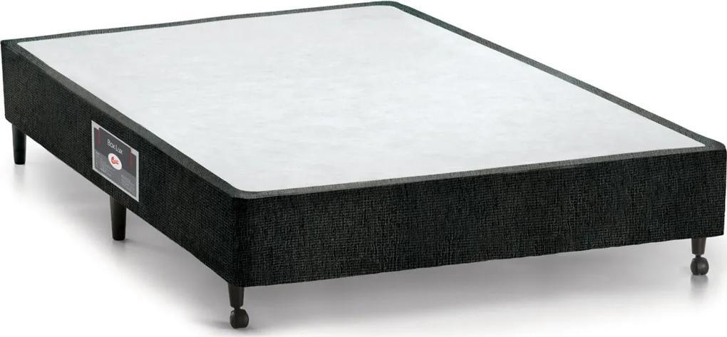 Box Casal 138X188X27 Lux Preto Castor