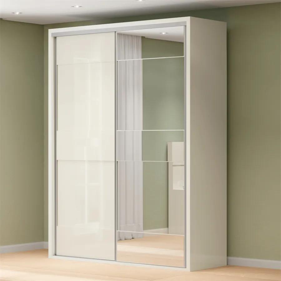 Guarda-roupa Manson (L: 179cm) C/ 1 Porta Espelhada 100% Mdf  Off