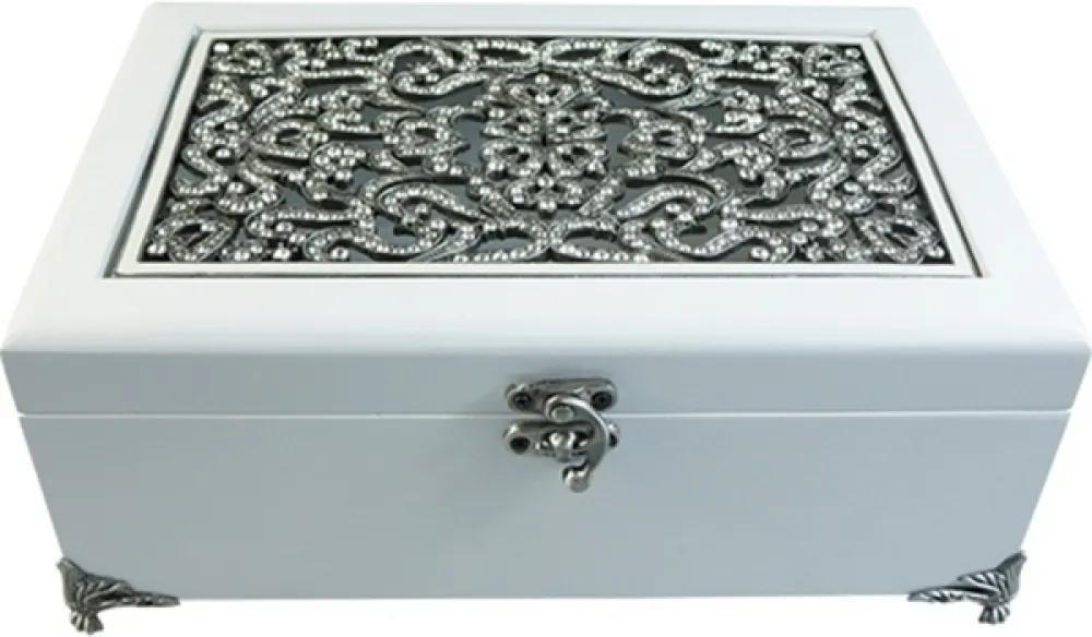 Portas joias  ZABELA 26 cm  madeira e cristal  Ilunato TI0125
