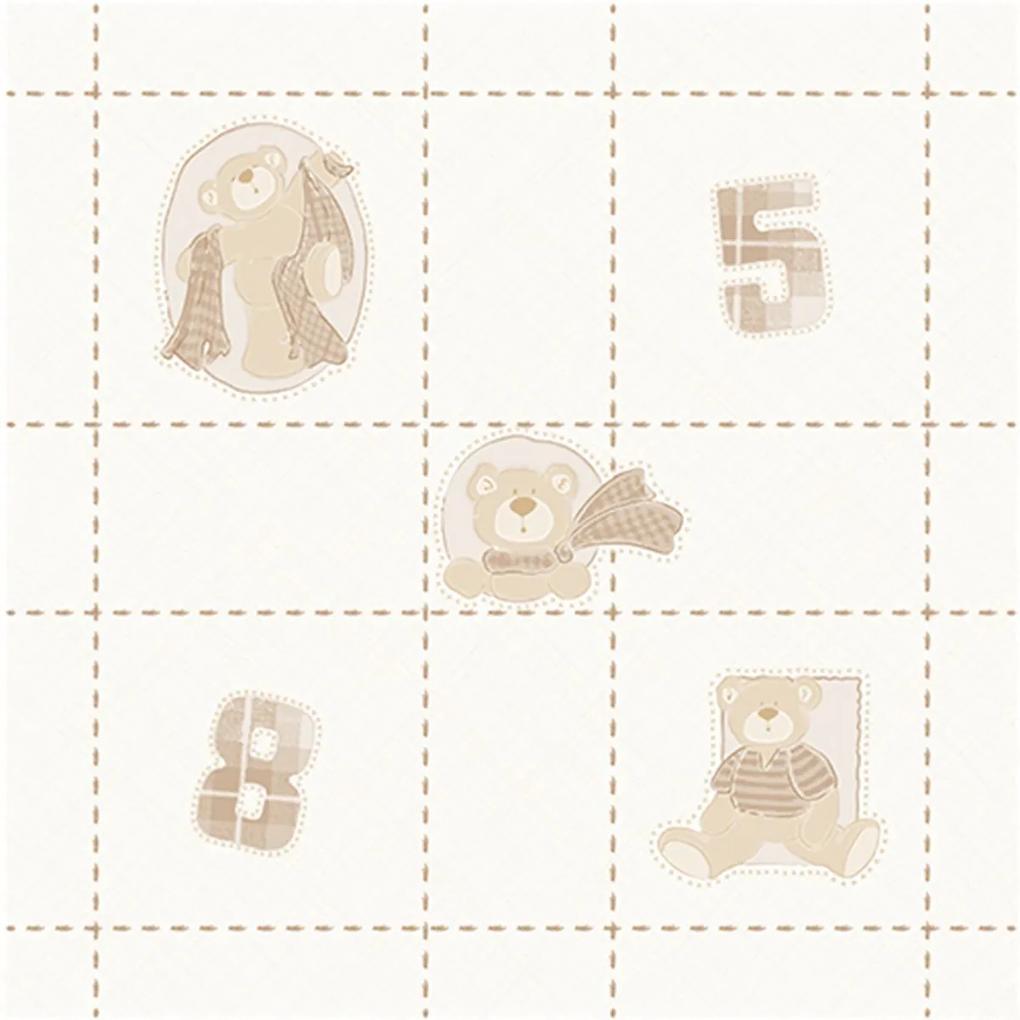 Papel de Parede Ursinhos 52cm x 10m Novo Encanto