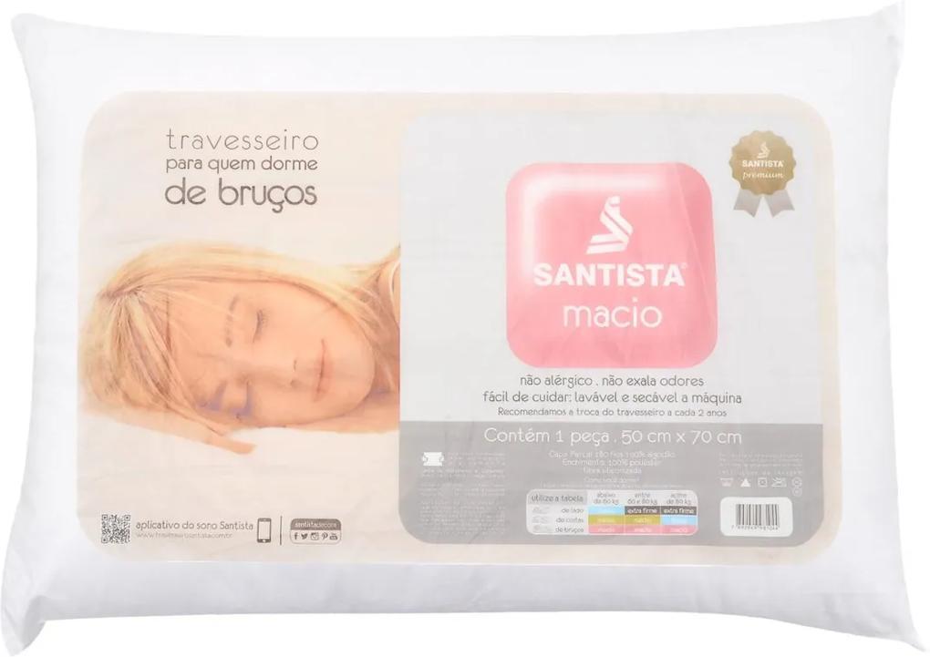 Travesseiro Santista Macio Branco