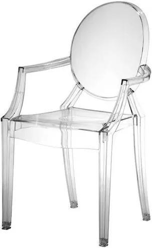 Cadeira Louis Ghost INFANTIL Com Braco Cor Incolor - 11562 Sun House