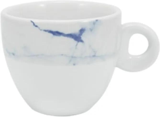 Xícara Chá com Pires 160 ml Porcelana Schmidt - Dec. Mármore Azul