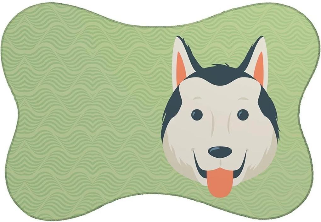Tapete Mdecore PET Husky Verde 46x33cm