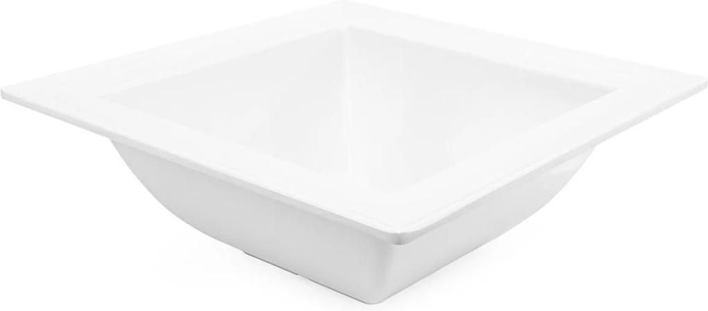 Saladeira Quadrada 37 Cm Melamina 100% Profissional
