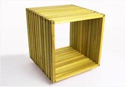 Módulo Dominoes com 45 x 45 Stain Amarelo - Mão & Formão