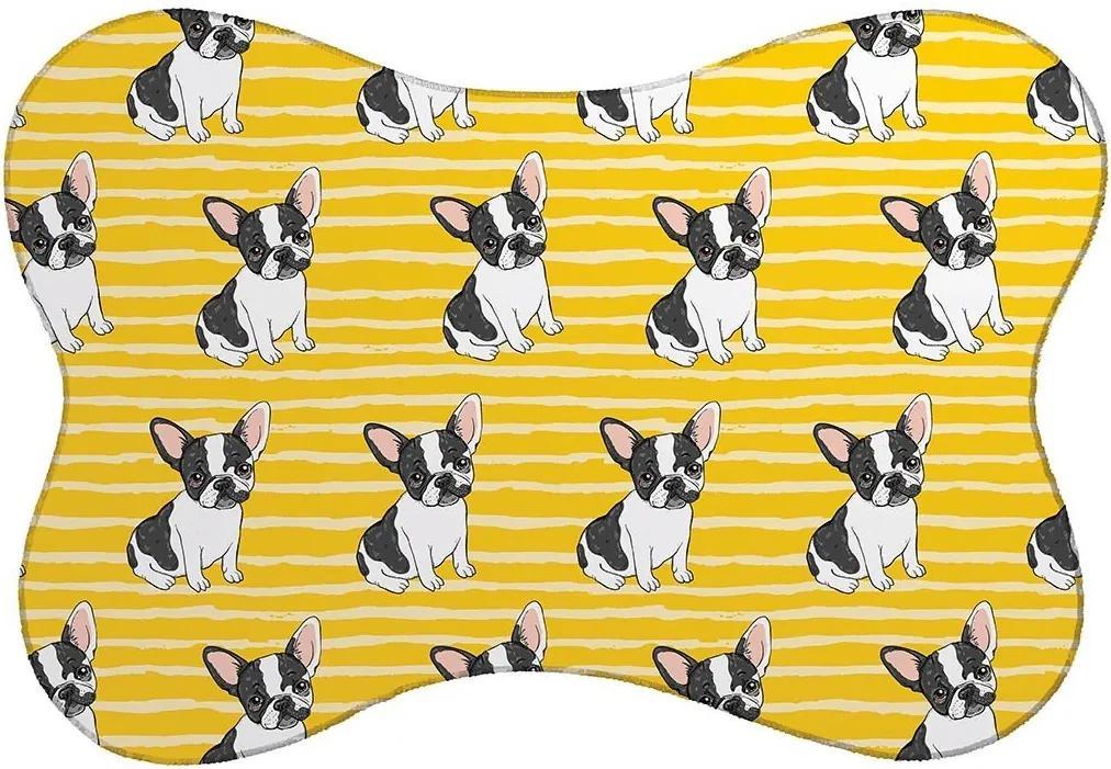 Tapete PET Mdecore Bulldog Amarelo46x33cm