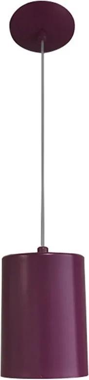 Pendente Cilindro 11cm Violeta/Violeta 1XE27 - Piuluce - 6308 V/V