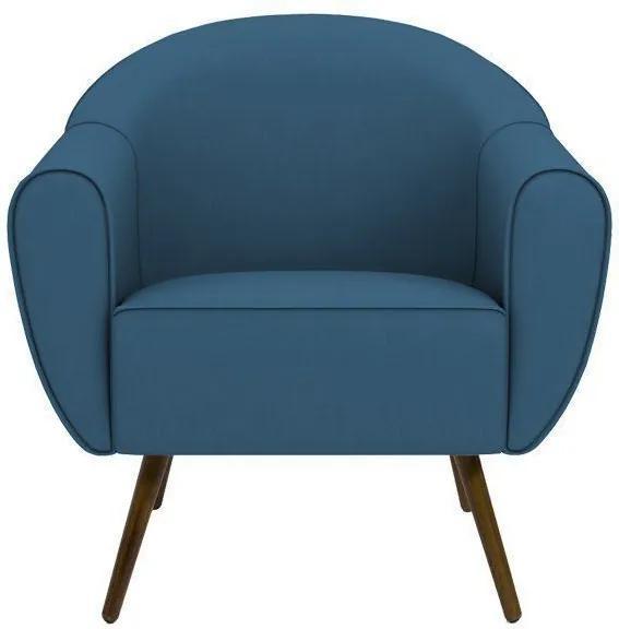 Poltrona Decorativa Sacha Veludo Azul - Gran Belo