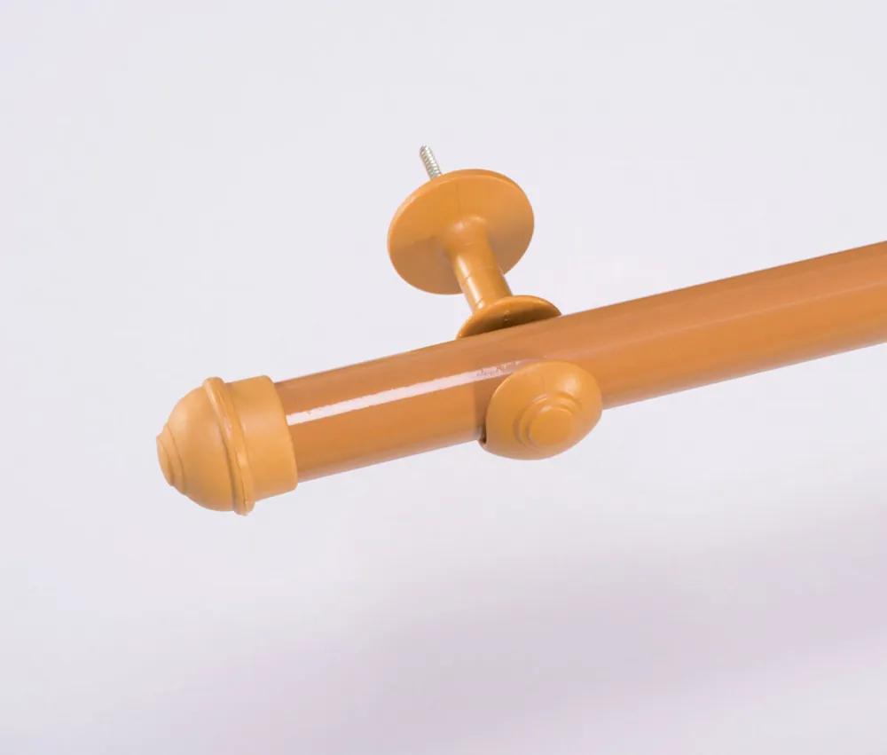 Varão Simples para Cortina de 3 Metros Espessura 28mm - Cerejeira