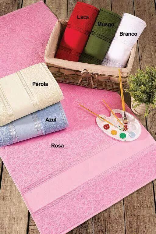 Toalha de Banho Para Bordar Ponto Russo e Pintar Aquarela - Ponto Russo - 68x135cm - Toalhas Appel