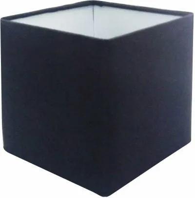 Cúpula em Tecido Quadrada Abajur Luminária Cp-2006 15/13x13cm Preto