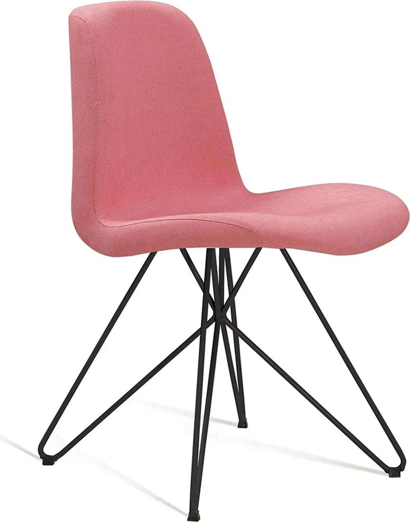 Cadeira Eames com Base Butterfly Coral DAF Rosa
