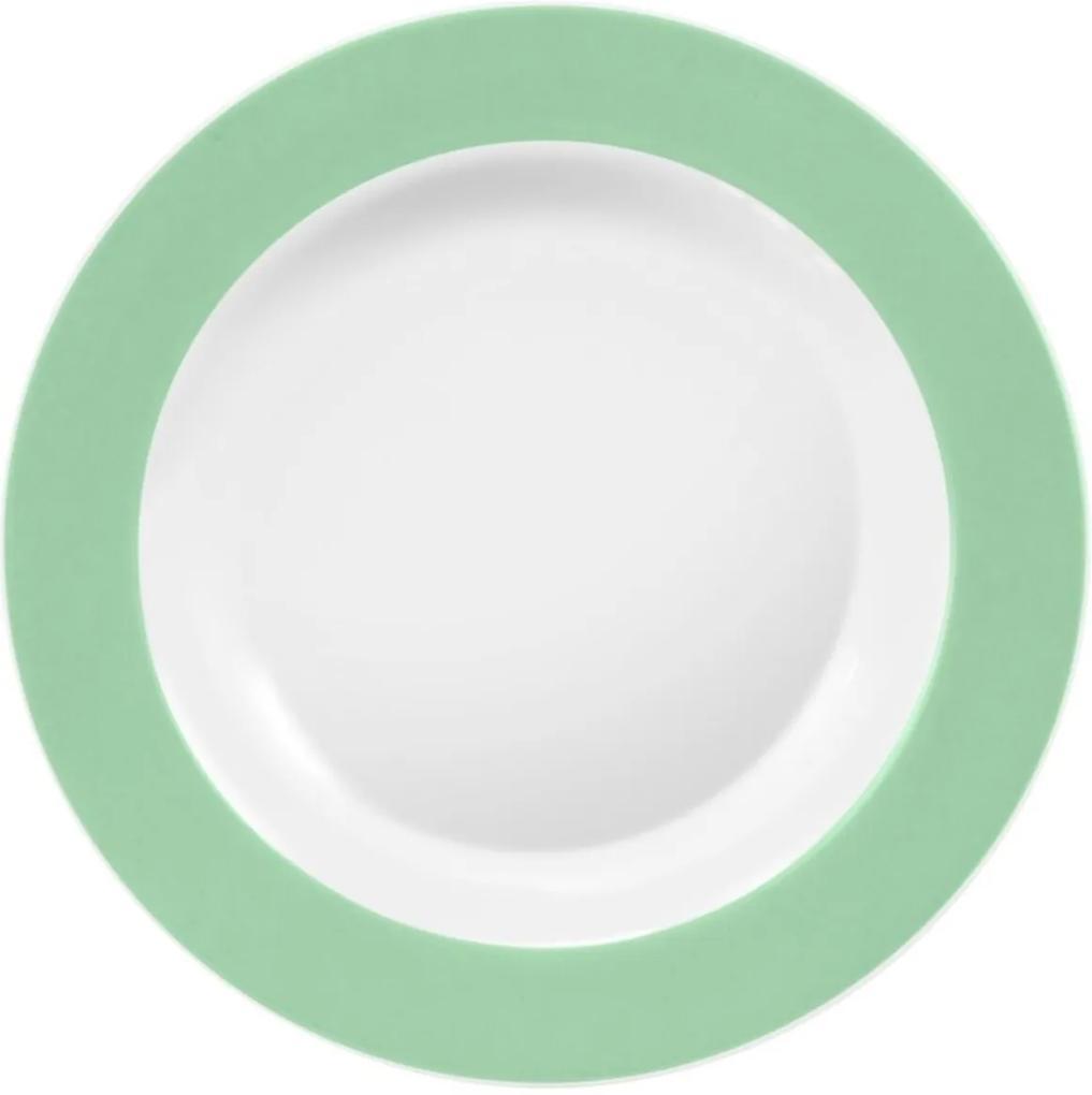 Prato Fundo 23 cm Porcelana Schmidt - Dec. Matte Verde Primavera