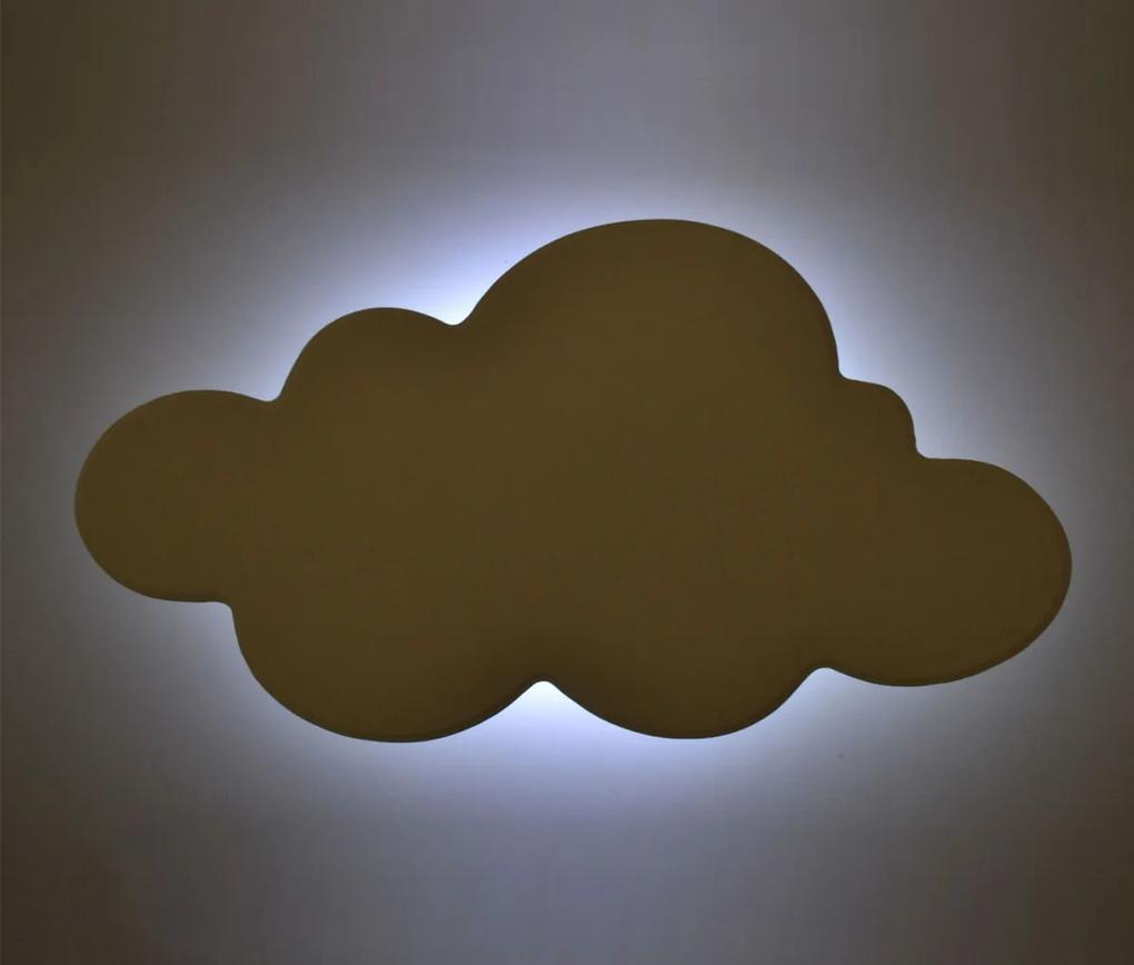Nuvem Luminária em MDF Pequena com LED Luz Fria 01 Peça - Branco
